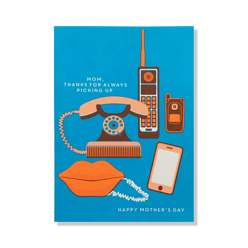vintage phone mother's day card