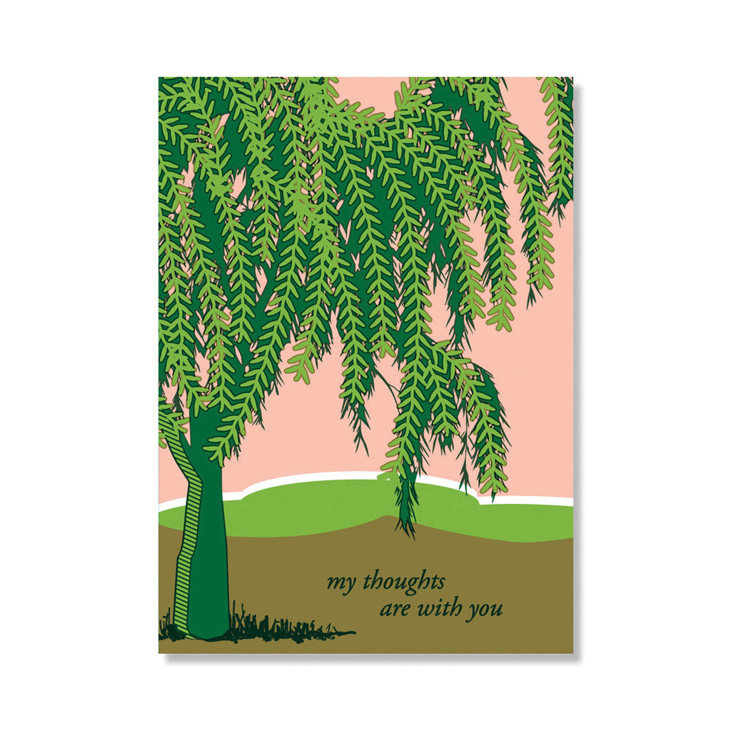 Willow tree sympathy card anne and kate screen printed stationery willow tree sympathy card m4hsunfo