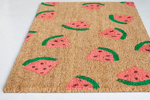News from Copious Crafts - DIY Watermelon Stamped Doormat