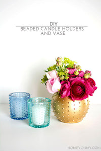 News from Copious Crafts - DIY Beaded Candle Holder And Vase