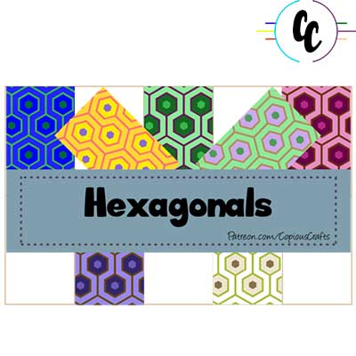 Patterns Hexagons  Digital Paper Pack | Copious Crafts - Copious Crafts