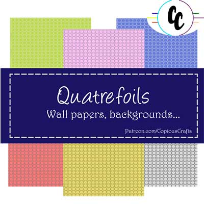 Patterns Quatrefoils Digital Paper Pack | Copious Crafts - Copious Crafts
