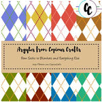 Patterns Argyles Digital Paper Pack | Copious Crafts - Copious Crafts