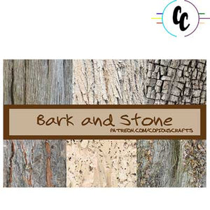 Pattern Bark and Stone Digital Paper Pack | Copious Crafts - Copious Crafts