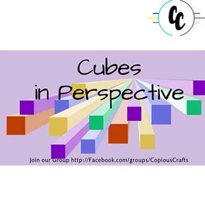 Pattern Cubes in Perspective Digital Paper Pack | Copious Crafts - Copious Crafts