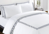 Quatrefoil Embroidery Sheet Set