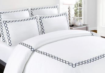 Quatrefoil Embroidery Duvet Cover