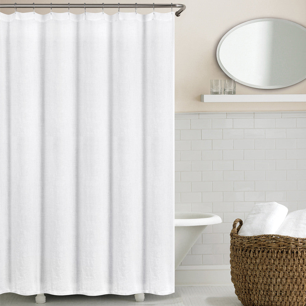 Washed Belgian Linen Shower Curtain