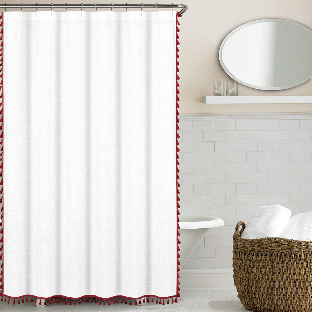 Tassel Shower Curtain