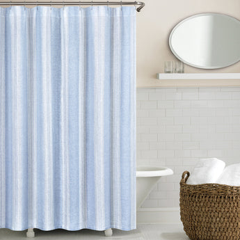 Vintage Stripe Linen Shower Curtain