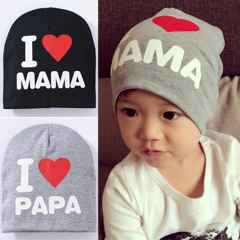 I Love Mama/Papa Soft Cotton Hat