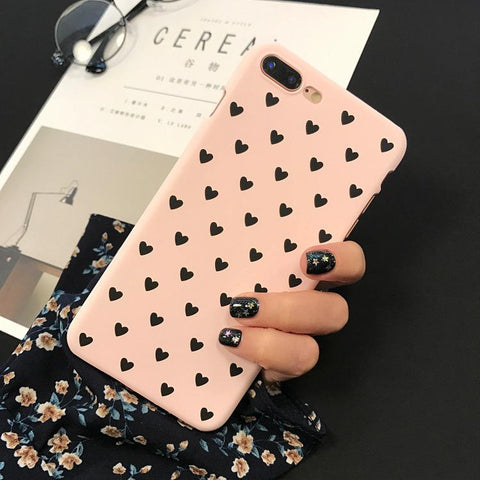 Hearts case for iPhone X, 6S, 6 7 Plus 8 Plus