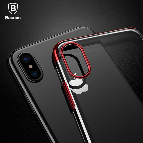 Luxury Red Clear iPhone X case