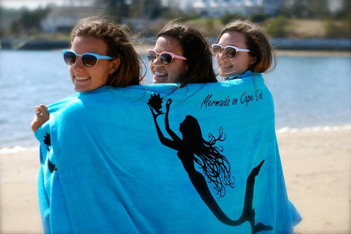 Mermaids on Cape Cod Beach Towel - Mermaids on Cape Cod-Official Mermaid Gear