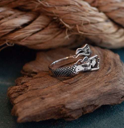 Sterling Mermaid Ring- Adjustable