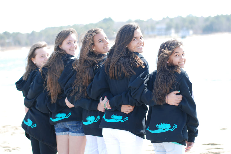 Hockey Tie-Up Sweatshirt - Mermaids on Cape Cod-Official Mermaid Gear