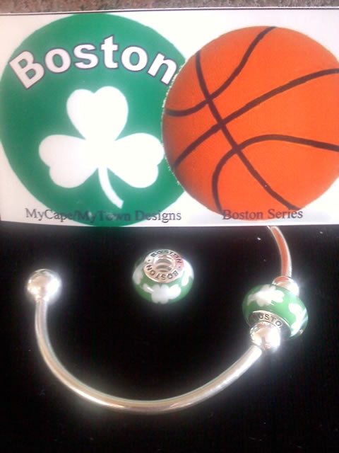 Boston Celtics Fan Bead MyCape/MyTown Designs