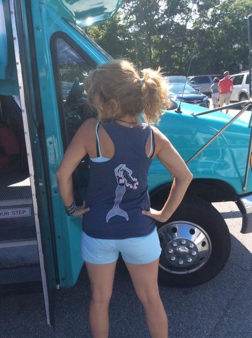 Mermaid Football FAN Racer Back Muscle Tank