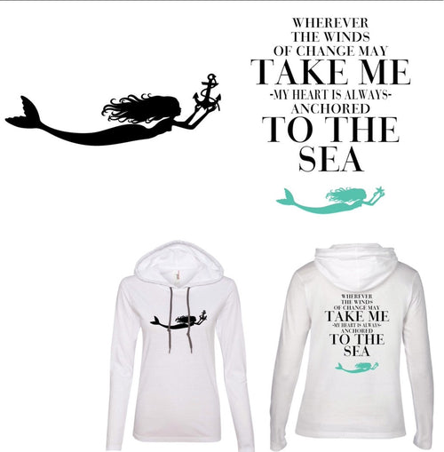 Take Me to The Sea:  White Hooded Shirt