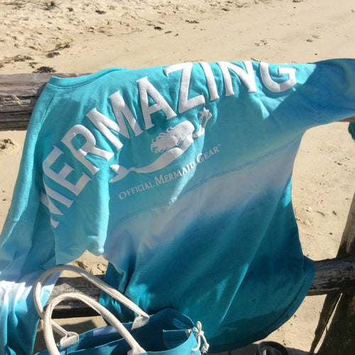 MerMazing Spirit Jersey Made in the USA-Solid Color Only- Tie Dye Sold Out until November - Mermaids on Cape Cod-Official Mermaid Gear
