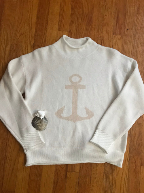Hyannis Anchor Roll Neck (Pre-Order Arrives 2/10)