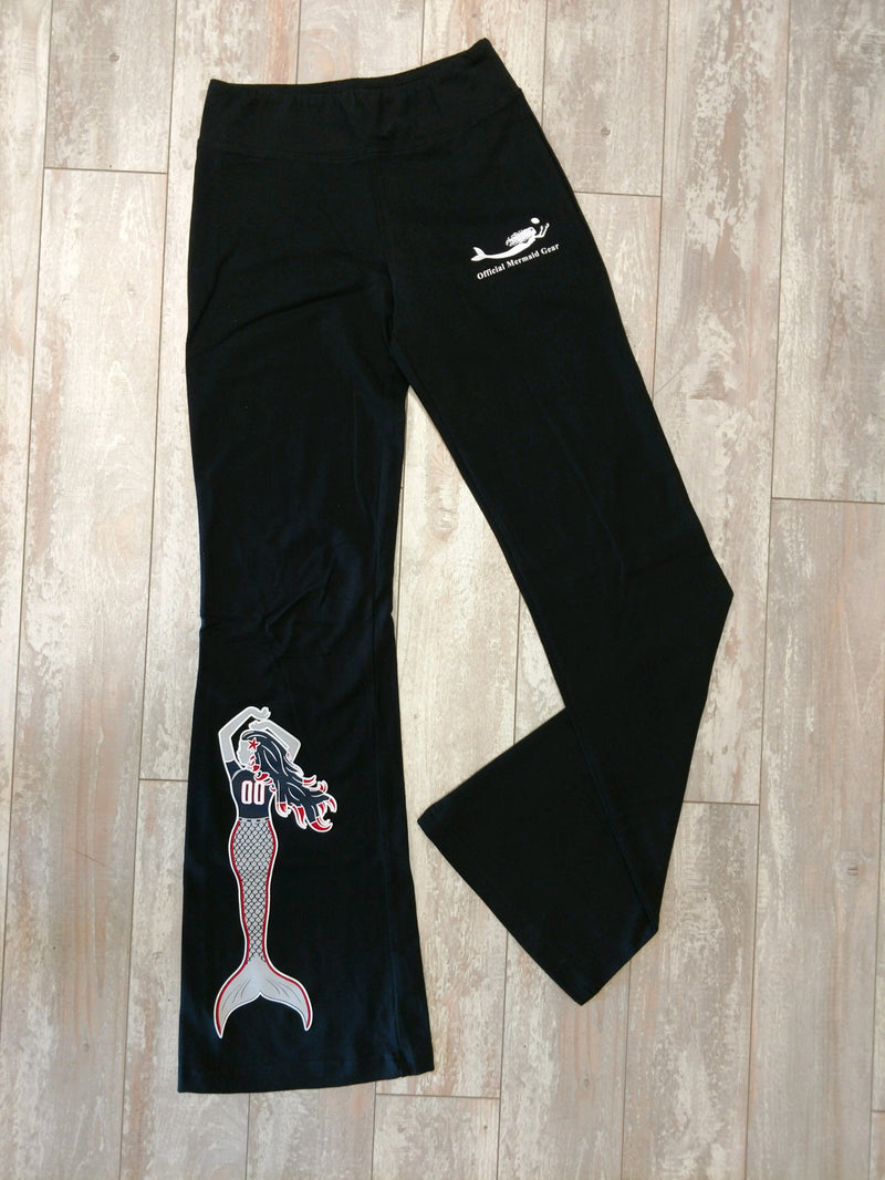 Mermaids Love New England Football-Bella Game Day Yoga Pants