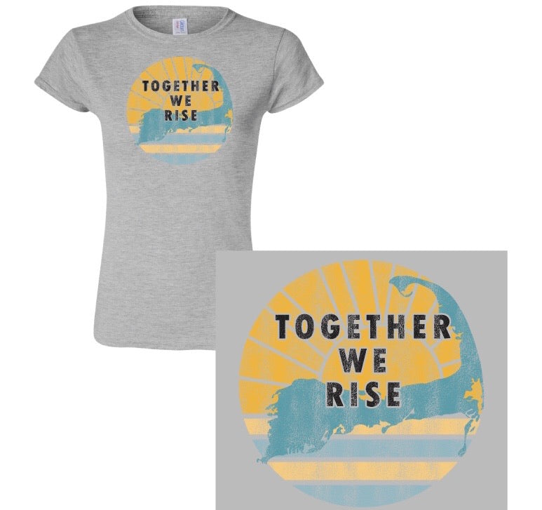 Together WE RISE  -TEE - Sunshine Waters on Cape Cod - Mermaids on Cape Cod-Official Mermaid Gear