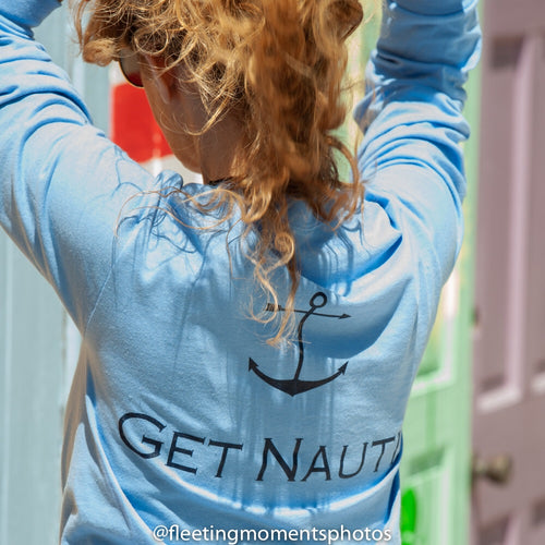 Aqua Get Nauti Long Sleeve - Mermaids on Cape Cod-Official Mermaid Gear