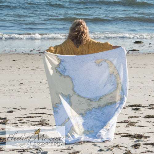 Cape  Cod or CUSTOM Nautical Chart Blanket - Mermaids on Cape Cod-Official Mermaid Gear