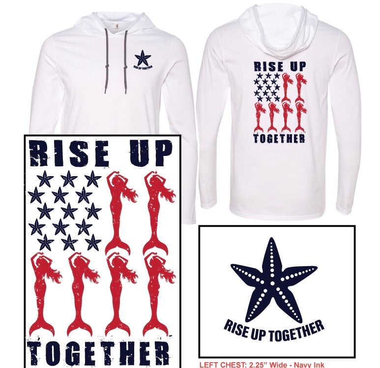 Mermaid Rise Up Together Hoodie-  Fundraiser for Food Pantries - Mermaids on Cape Cod-Official Mermaid Gear