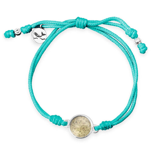 Cape Sand Teal Mermaid Ocean Conservation Bracelet - Mermaids on Cape Cod-Official Mermaid Gear