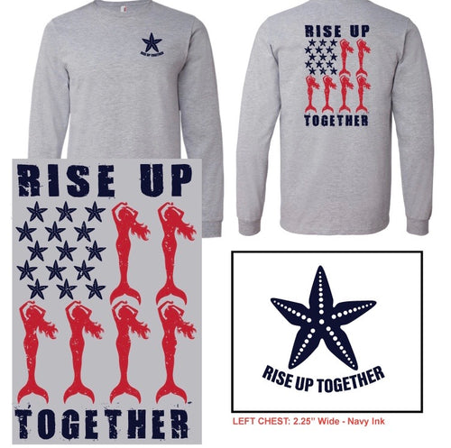 Mermaid Rise Up Together Tee-  Fundraiser for Food Pantries - Mermaids on Cape Cod-Official Mermaid Gear