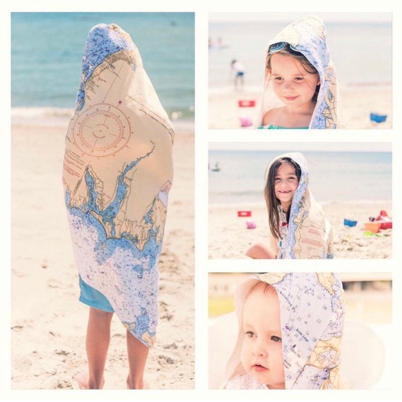 Cape Cod Baby Hooded Towel - Mermaids on Cape Cod-Official Mermaid Gear