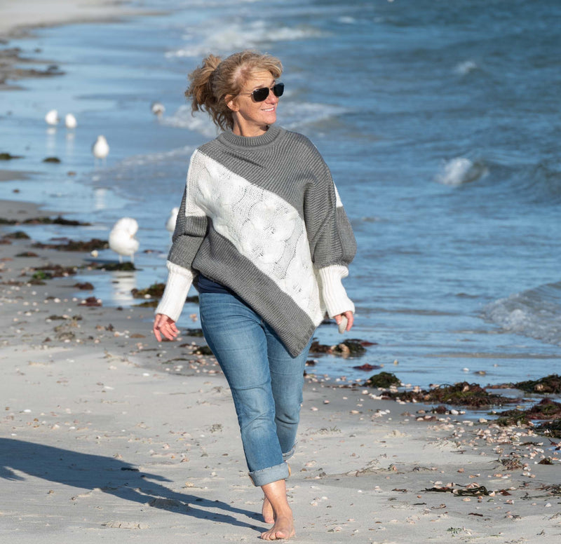Cotuit Cable Knit Poncho