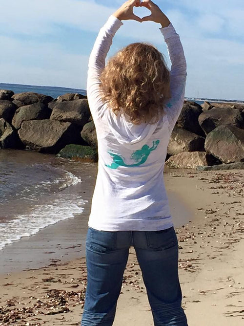 Mermaid Burn-Out Hoodie - Mermaids on Cape Cod-Official Mermaid Gear