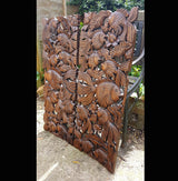 Carved Wooden 3ft 2 Piece Fish Wall Panels Wall Hangings - AsianWoodCraftUK