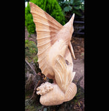 60cm Big Game Fish Sailfish Marlin Wooden Sculpture - AsianWoodCraftUK