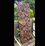 Carved Wooden 3ft Fish Wall Panel 01 Thai Wood Carvings - AsianWoodCraftUK