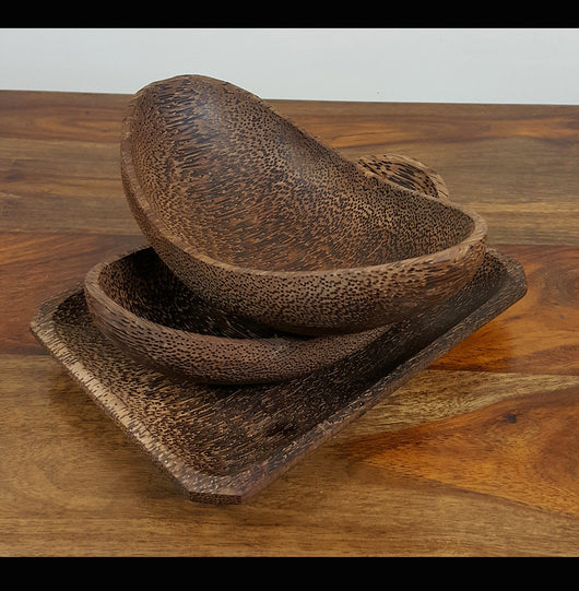 Palm wood serving Dishes