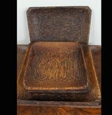 Coconut Wood 5 Serving Tray Set