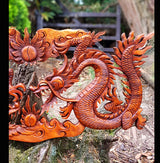60cm Dragon Wall Panel - AsianWoodCraftUK