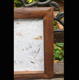 Large Chunky Teak Wood Photo Frame - AsianWoodCraftUK