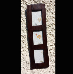 Chunky Triple teak wood photo frame