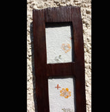Chunky Triple teak wood photo frame - AsianWoodCraftUK
