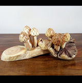 Parasite Wood Bulb Style 6 Mushrooms - AsianWoodCraftUK