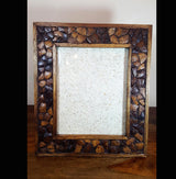 X-Large Reclaimed Teak and Coconut Wood Photo Frame. - AsianWoodCraftUK