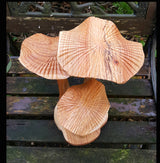 Large Triple Carved Mushrooms - AsianWoodCraftUK