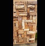 Teak Root Blocks 1 Meter Square Wall Panel - AsianWoodCraftUK
