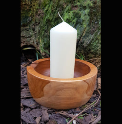 Teak Root Round Candle Holder - AsianWoodCraftUK