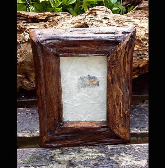 Chunky Reclaimed teak wood photo frame - AsianWoodCraftUK